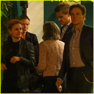 Anna Paquin & Stephen Moyer Grab Dinner with Friends in West Hollywood