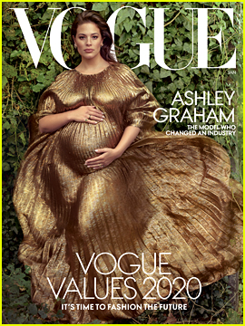 Ashley Graham Poses Pregnant on the Cover of 'Vogue' & Reveals One Important Piece of Pregnancy Advice