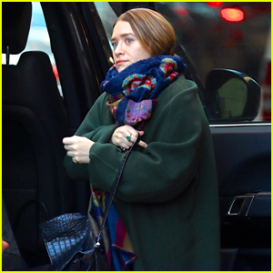 Ashley Olsen Bundles Up While Getting Ready for the Weekend