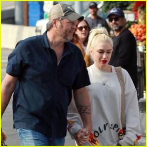 Blake Shelton & Gwen Stefani Go Grocery Shopping in L.A.