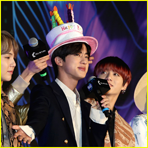 BTS's Jin Wears Birthday Hat During Mnet Asian Music Awards 2019