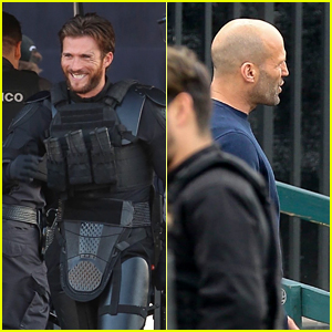 Scott Eastwood & Jason Statham Film Scenes for 'Cash Truck' in LA