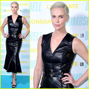 Charlize Theron Rocks a Leather Dress for 'Bombshell' London Screening