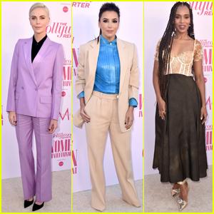 Charlize Theron, Eva Longoria, & Kerry Washington Go Glam for THR's Women in Entertainment Gala 2019