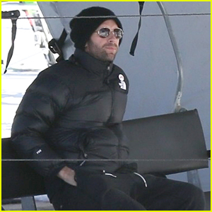Chris Martin Takes a Solo Ski Lift Ride on Christmas Eve