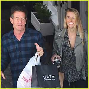 Dennis Quaid Goes Last Minute Holiday Shopping with Fiancee Laura Savoie