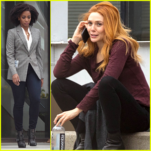 Elizabeth Olsen Spotted on 'WandaVision' Set with Teyonah Parris (aka Adult Monica Rambeau!)