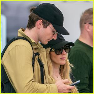 Ellie Goulding Arrives at Miami Airport with Husband Caspar Jopling