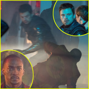 Sebastian Stan & Anthony Mackie Film Action-Packed Sequence for 'Falcon & Winter Soldier'!