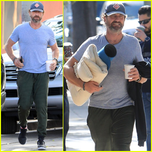 Gerard Butler Kicks Off His Week With a Yoga Class in LA