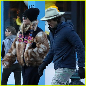 Gwyneth Paltrow & Husband Brad Falchuk Enjoy a Post-Christmas Stroll in Aspen!