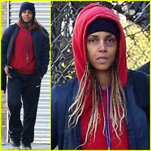Halle Berry Has a Huge Black Eye on the Set of 'Bruised'