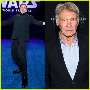 Harrison Ford Joins Mark Hamill Star Wars Cast At Rise Of Skywalker Premiere Anthony Daniels Billy Dee Williams Dominic Monaghan Greg Grunberg Harrison Ford Ian Mcdiarmid John Williams Joonas Suotamo