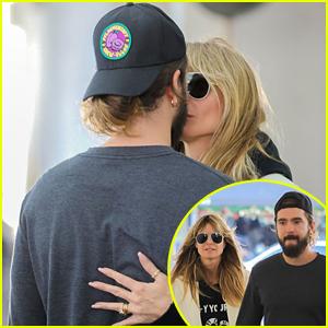 Heidi Klum Kisses Husband Tom Kaulitz After Lunch in Los Angeles
