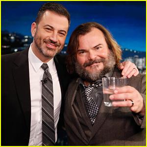 Jack Black Tells 'Kimmel' That Recording In Jack White's Studio Was 'Like Going to Graceland'!