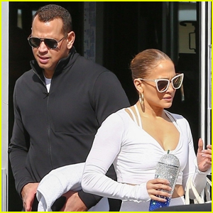 Jennifer Lopez & Alex Rodriguez Hit the Gym in Miami