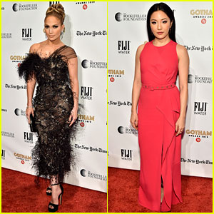 Jennifer Lopez Constance Wu Hustlers Stars Support The
