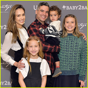 Jessica Alba & Husband Cash Warren Celebrate Baby2Baby Holiday Party With Their Kids!