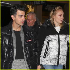 Joe Jonas & Sophie Turner Check Out 'Hadestown' on Broadway!