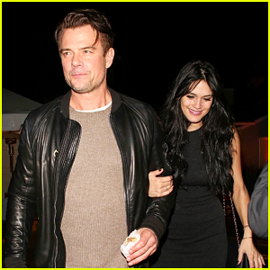 Josh Duhamel & Miss World America 2016 Audra Mari Keep Close at Holiday Party!