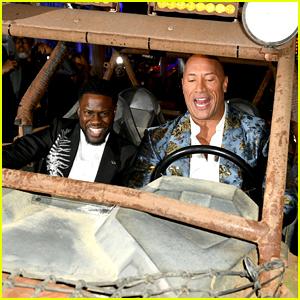 Dwayne Johnson & Kevin Hart Make a Grand Entrance at 'Jumanji: The Next Level' Premiere!