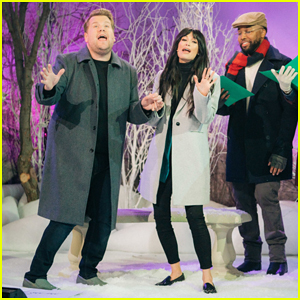 Kacey Musgraves & James Corden Perform 'Soundtrack to a Christmas Love Story' on 'Late Late Show' - Watch Here!