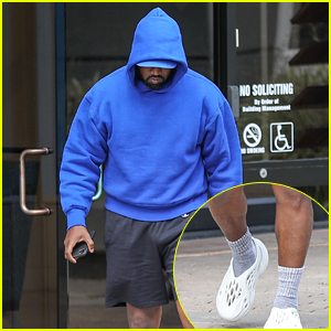 Kanye West Wears Unreleased Yeezy Crocs While at His Office