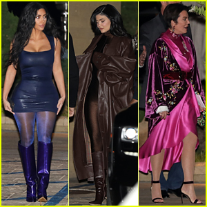 Kim Kardashian, Kylie Jenner & Kris Jenner Host a Holiday Party for Employees