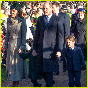 Kate Middleton & Prince William Bring the Kids to Christmas Day Service with The Queen!