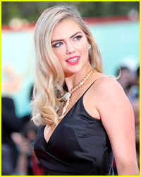 Kate Upton Interrupted By Animal Rights Activist