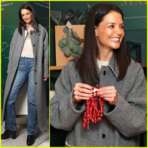 Katie Holmes Brings Holiday Cheer at Frederick Wildman Wines Wrappy Hour!
