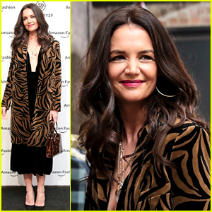 Katie Holmes Shops Around at Amazon x Refinery29's Holiday Pop-Up Shop in Soho