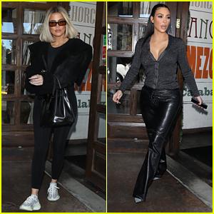 Khloe & Kim Kardashian Grab Lunch Together After Jordyn Woods Lie Detector Results Revealed