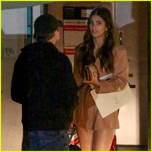 Leonardo DiCaprio & Girlfriend Camila Morrone Sneak Through Back Door for a Dinner Party