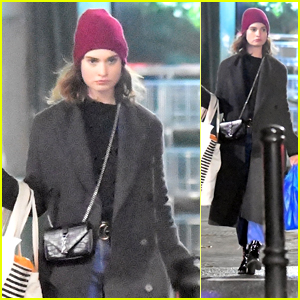 Lily James Heads to Matt Smith's Place After Christmas Shopping Amid Split Reports