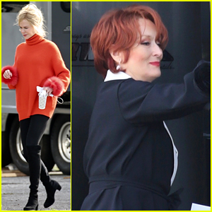 Meryl Streep Spotted in Her Red Wig on 'The Prom' Movie Set!