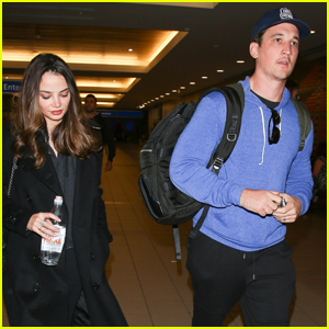 Miles Teller & Wife Keleigh Sperry Jet to Orlando for the Holidays