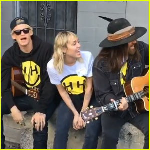 Miley Cyrus Sings 'Old Town Road' with Boyfriend Cody Simpson & Dad Billy Ray - Watch!