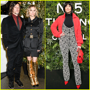 Norman Reedus & Diane Kruger Couple Up To Celebrate Chanel N°5 In The Snow Launch!