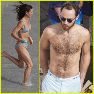 Pippa Middleton & Younger Brother James Hit the Beach in St. Barts!