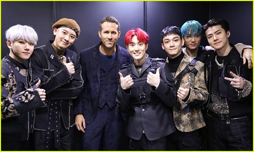Ryan Reynolds Meets K-Pop's EXO at '6 Underground' Premiere!