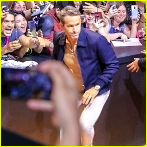 Ryan Reynolds Reacts to Almost Being Trampled By Fans