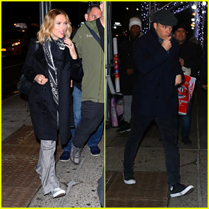 Scarlett Johansson & Fiance Colin Jost Attend 'Saturday Night Live' After-Party