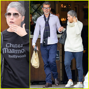 Selma Blair Sparks Engagement Rumors After Wearing Huge Ring on Her Left Hand Finger