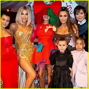 Sia Poses With the Kardashians at Christmas Party 2019!