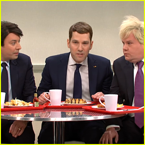 Jimmy Fallon, Paul Rudd & James Corden Star in 'SNL' Cold Open Skit With Alec Baldwin as Donald Trump (Video)