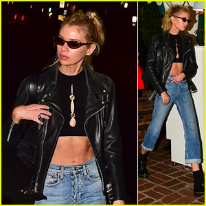 Stella Maxwell Puts Her Toned Abs on Display While Heading to Dinner in Hollywood