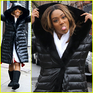 Tiffany Haddish Pokes Out Her Tongue While Filming 'The Last O.G.' in Brooklyn