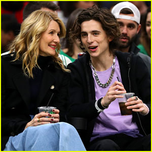 Laura Dern Went to a Basketball Game with Timothee Chalamet & Talked About Baby Yoda