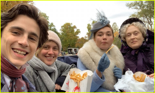 Timothee Chalamet Shares Photo of Meryl Streep Ordering Fast Food to 'Little Women' Set!